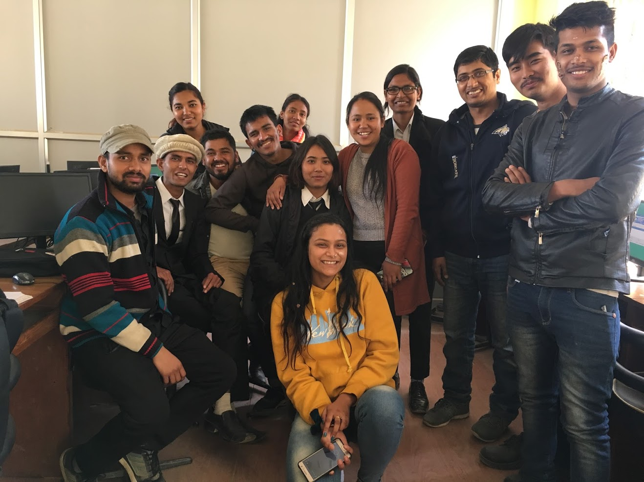 Central Department of PUblic Administration (CDPA), Faculty of Management (FoM), Tribhuvan University (TU), Public Administration Campus (PAC), Master of Public Administration (MPA), Bachelor of Public Administration (BPA) students in computer class